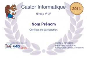 Diplome Castor